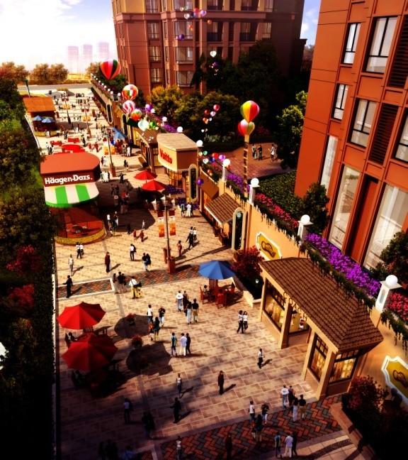 情景商业街区超前规划设计,欧式整街打造,完美融合