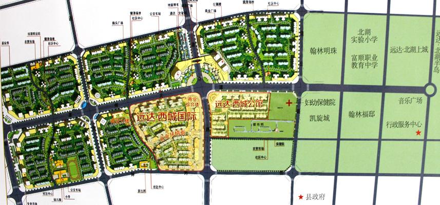 富顺城区街道地图