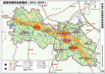 自贡富顺县城地图