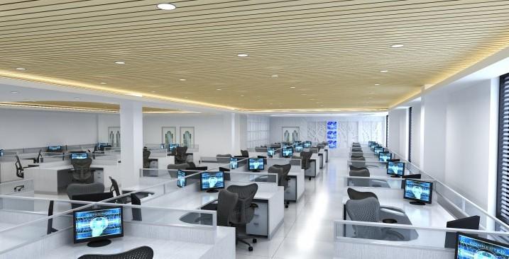大型办公室设计效果图; 南方国际广场; 深圳二手房 福田 皇岗 南方