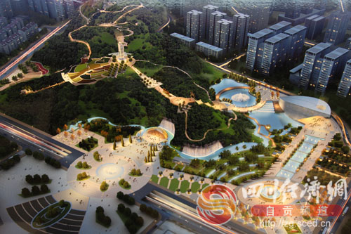 自贡高新区南湖高峰公园及城市广场可望年内开建