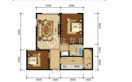 君豪御园   高层均价:4000元/平米   户型面积:58-106平米   总价:23