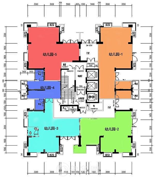 3号房幼儿园平面图